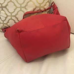 Dkny Bags - DKNY Hobo Red Bag 100% Leather